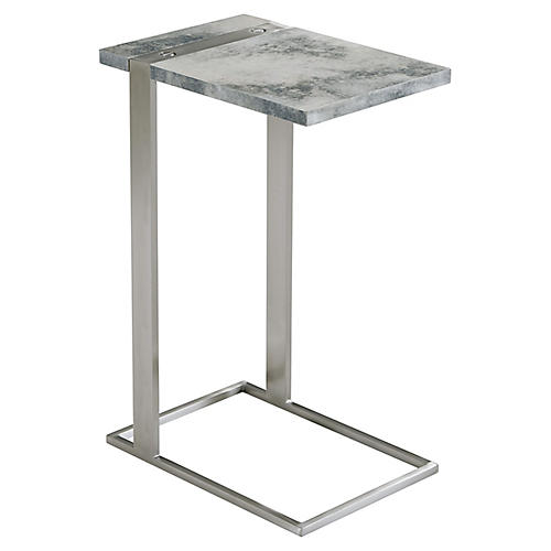 Projection Side Table, Graphite Parchment