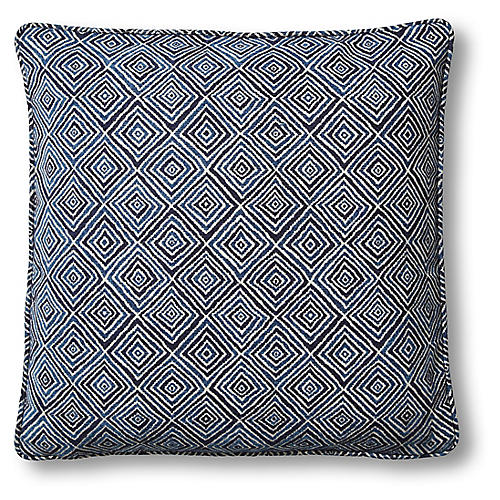 Diamond 22x22 Pillow, Blue