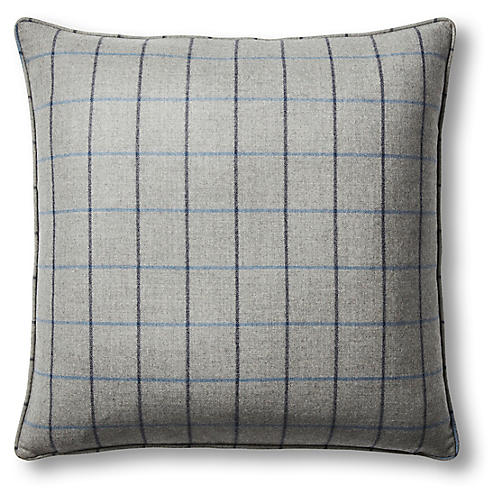 Greystone 22x22 Pillow, Gray/Blue