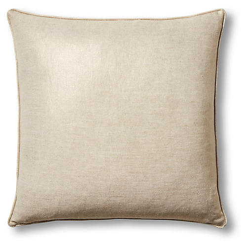Troy 22x22 Pillow, Oatmeal Linen
