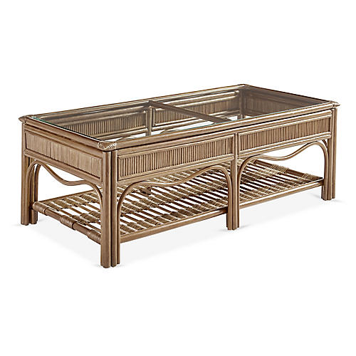 Bermuda Rattan Coffee Table, Natural
