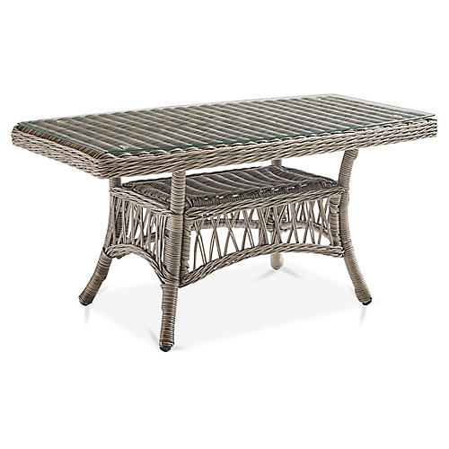 Westbay Glass Coffee Table, Slate Gray