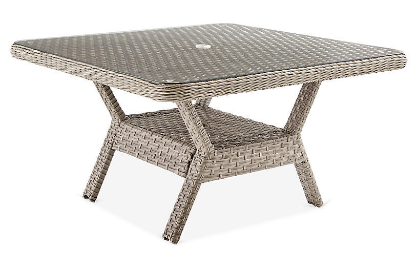 Mayfair Glass Dining Table, Gray