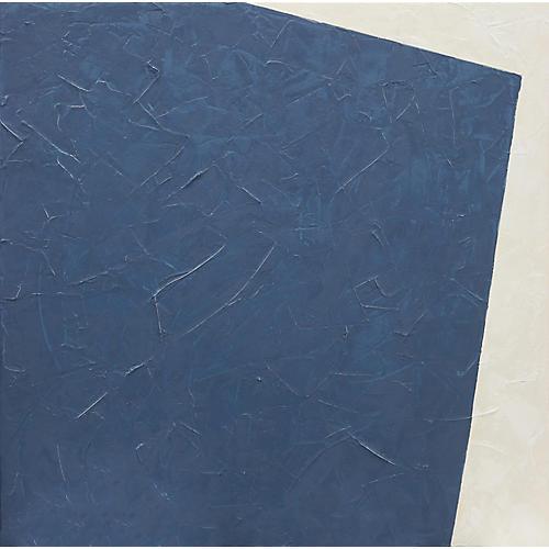 Blue Corner, Hand-Embellished