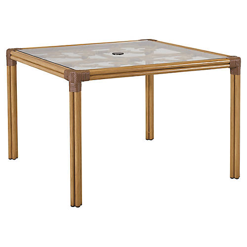 Mimi Square Dining Table, Natural/Cappuccino