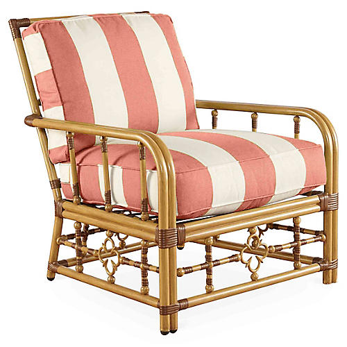 MImi Lounge Chair, Coral Sunbrella