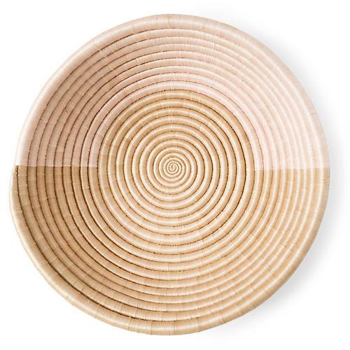 "18"" Akeza Loop Platter, Pink/Natural"
