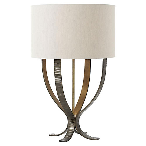 Lockland Table Lamp, Antiqued Brass/Gold