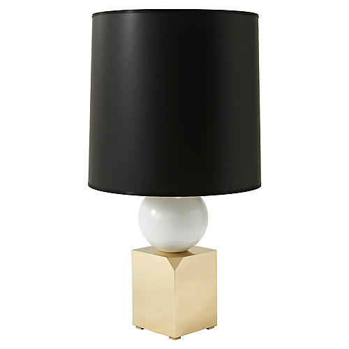 Spatial Table Lamp, Polished Brass