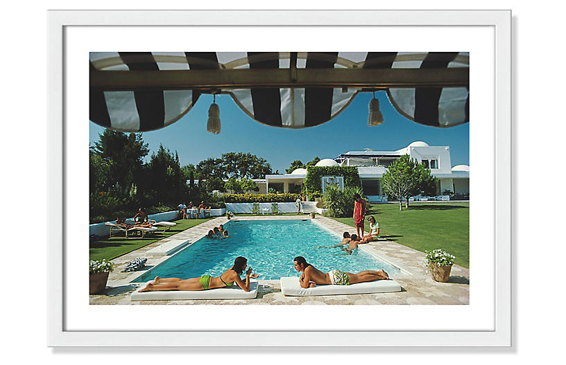 Slim Aarons, Poolside In Sotogrande