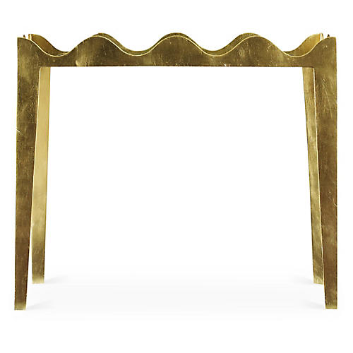 Ruffle Side Table, Gold