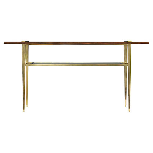 Wilson Console, Rosewood/Gold