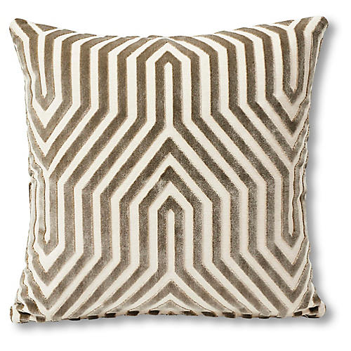 Vanderbilt 18x18 Pillow, Taupe