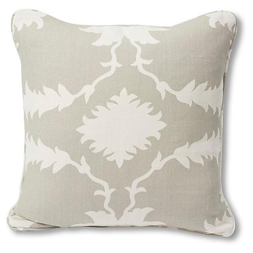 Garden Pillow, Dove/Ivory Linen