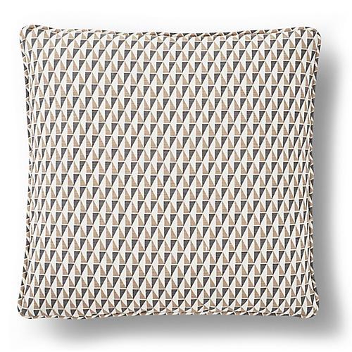 Wright Pillow, Gray/Sand Linen