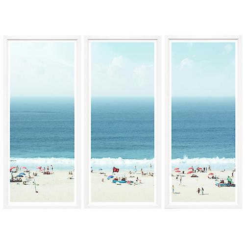, Peaceful Beach Triptych