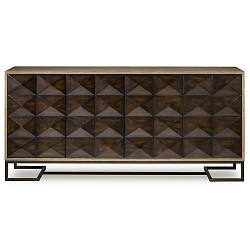 Casey 4-Door Sideboard, Walnut
