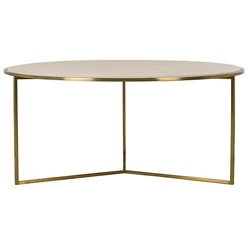 Gwen Coffee Table, Brass