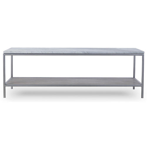 Paxton Rectangular Coffee Table, White Marble