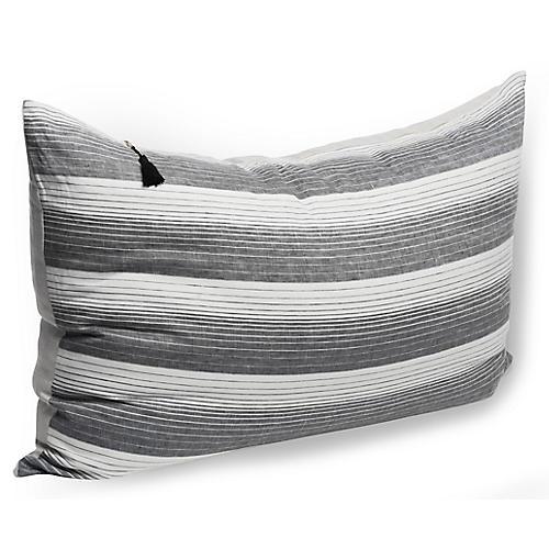 Cortina 24x36 Wide Pillow, Black Linen