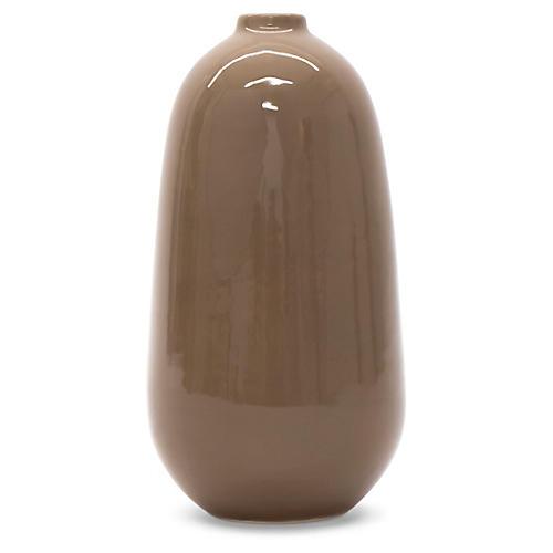 "8"" Tortola Vase, Taupe"