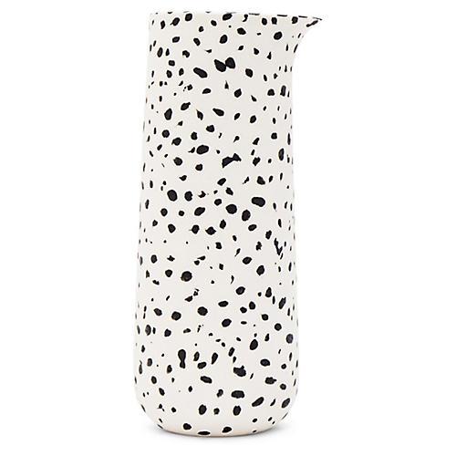 Finca Speckled Pitcher, White/Black