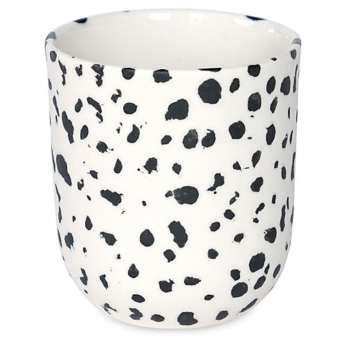 Finca Speckled Coffee Cup, White/Black