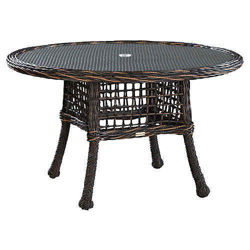 Moraya Bay Round Dining Table, Brown