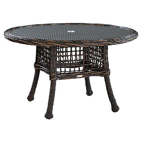 Moraya Bay Round Dining Table, Brown