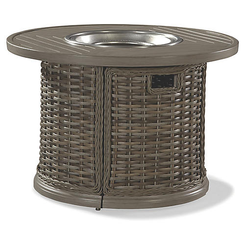 St. Simons Round Fire Pit, Gray