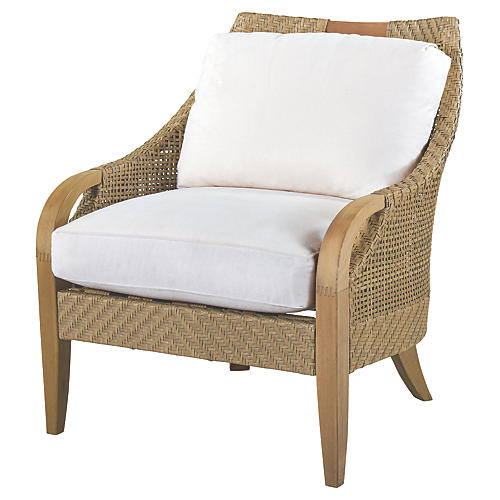 Edgewood Lounge Chair, Natural Sunbrella