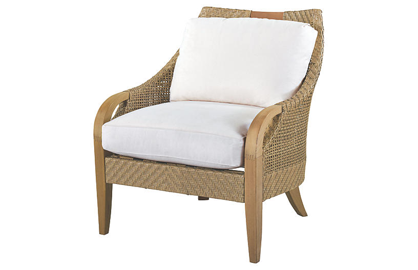 Edgewood Lounge Chair, Natural Sunbrella