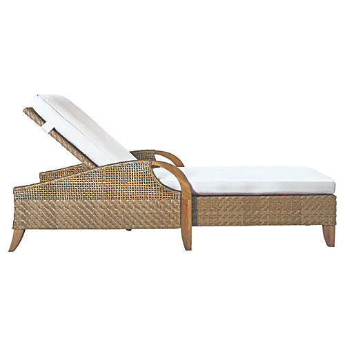 Edgewood Chaise, Natural Sunbrella