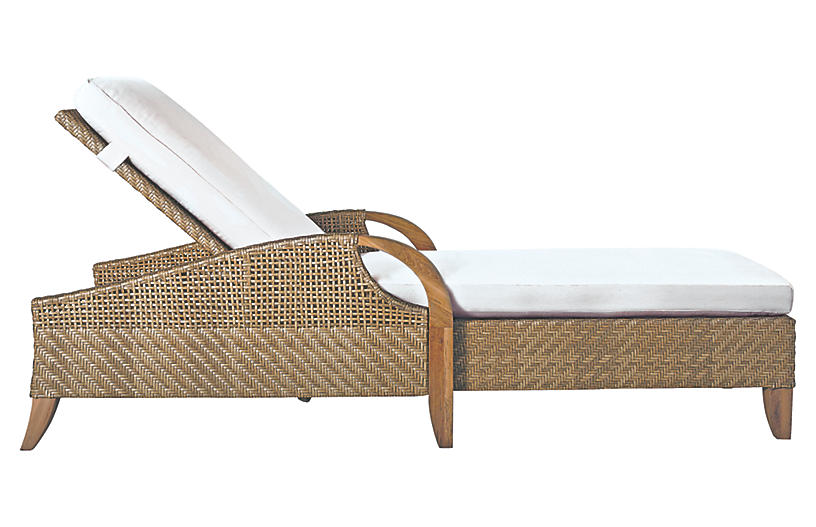 Edgewood Chaise, Natural Sunbrella