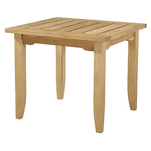 Aura Teak Side Table, Natural Sunbrella