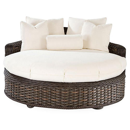 South Hampton Daybed, Natural Sunbrella
