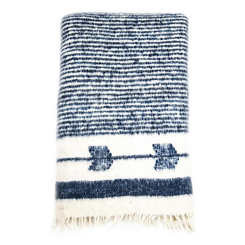Chamarra Wool Throw, Navy