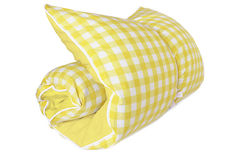 Gingham Throwbed, Yellow