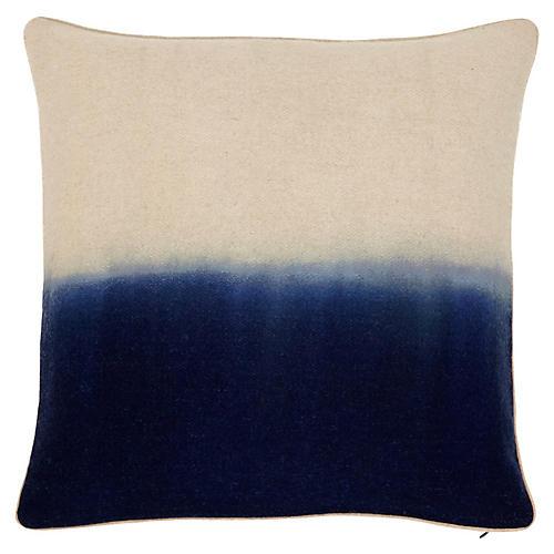 Jenkins 22x22 Pillow, Indigo/Ivory