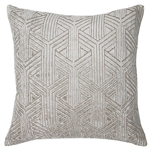 Jess 22x22 Pillow, Pewter Velvet