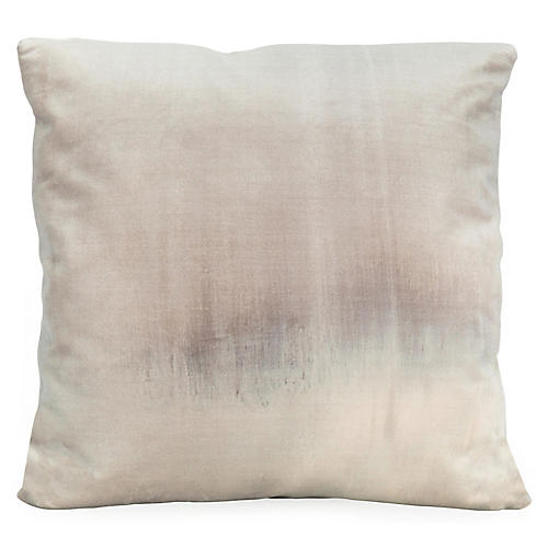 Haze No. 2 20x20 Pillow, Gray Velvet