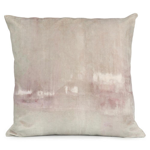 Passage 20x20 Pillow, Gray/Violet Velvet