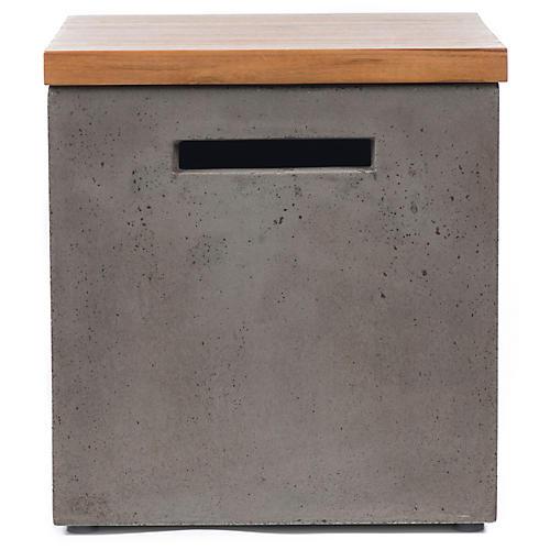 Aarhua Storage Side Table, Gray