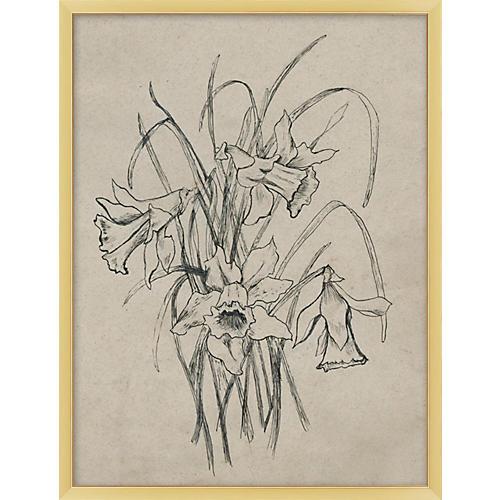Antiqued Floral