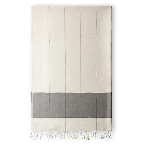 Karo Bath Towel, Sable
