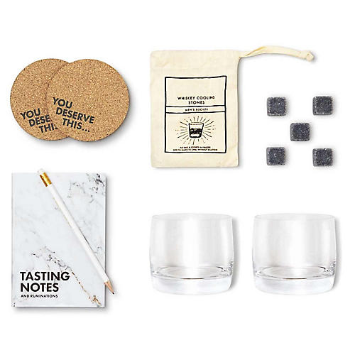 Whiskey-Lover's Bar Kit, White