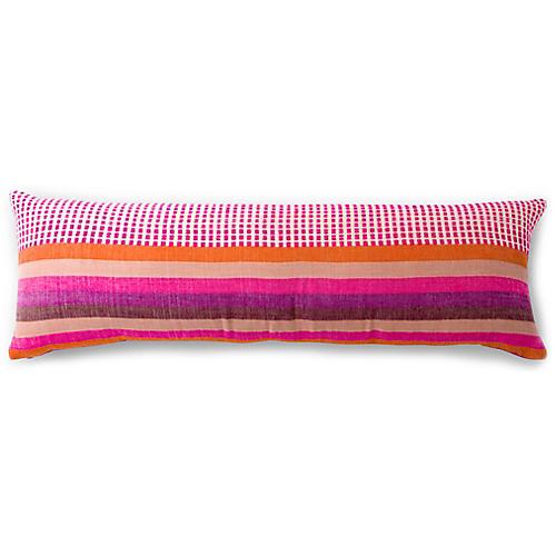 Suri 12x36 Lumbar Pillow, Cerise