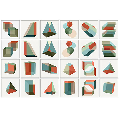 Pastel Geometric Set of 24