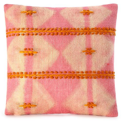 Nagazi 16x16 Pillow, Peony/Yellow