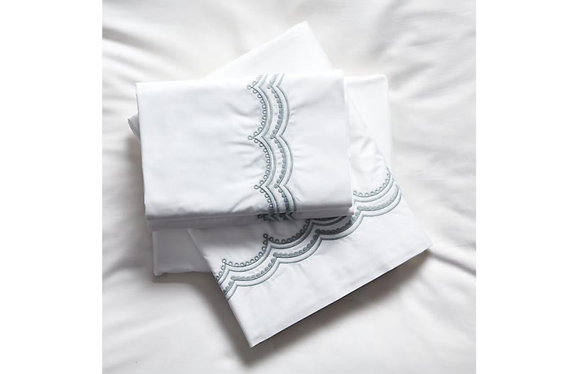 Evelyn Sheet Set, Silver